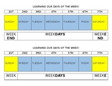 Learning Days of The Week!