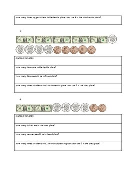 Learning Decimals with Money