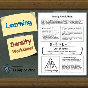 Learning Density Worksheet