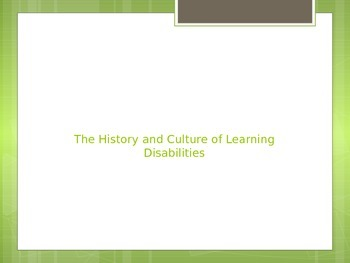 Learning Disabilities 101