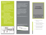 Learning Disabilities Brochure