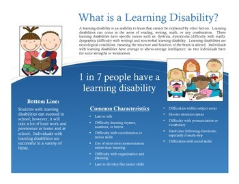 Special Education Parent Handout: Learning Disabilities