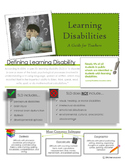 Learning Disabilities Teacher Handout