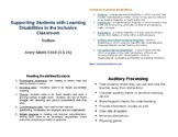 Learning Disabilities Tool Box