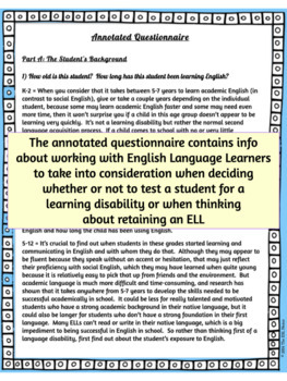 Learning Disability or ESL Issue Guide for Educators of ELLs