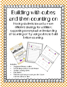Using Cubes and Counting On