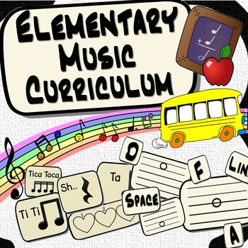 Elementary Music Fundamentals Curriculum ~BUNDLE~ & Interactive Music Notebook