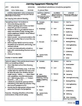 Learning Engagement Planner
