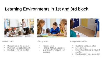 Learning Environment Expecations