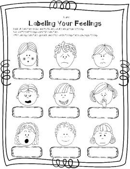Learning Feelings and Emotions worksheets BUNDLE