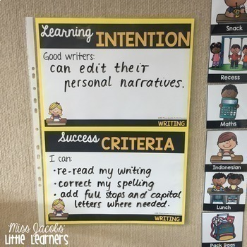 Learning Intentions & Success Criteria Display {Bundle}