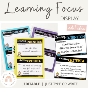 Learning Focus Display {Bundle}