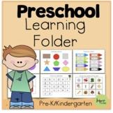 Preschool Learning Folder (Prek Distance Learning-Home Lea
