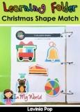 Learning Folder for 3-5   Toddler Binder: Christmas Shape Match