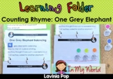 Learning Folder for 3-5   Toddler Binder: Counting Rhyme: