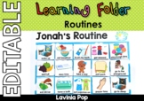 Learning Folder for 3-5 | Toddler Binder: EDITABLE Daily Routine | Schedule