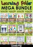 Learning Folder for 3-5   Toddler Binder   Busy Book MEGA BUNDLE