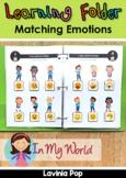 Learning Folder for 3-5   Toddler Binder: Matching Emotions