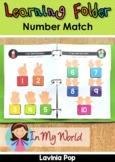 Learning Folder for 3-5   Toddler Binder: Number Match