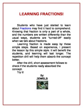 Learning Fractions!