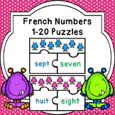 Learning French Numbers 1-20 Activity Game Puzzles Francais Classroom