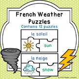 Learning French Weather Activity FSL Weathers Vocabulary Game Puzzles