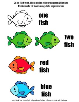 Learning Fun with One fish two fish red fish blue fish