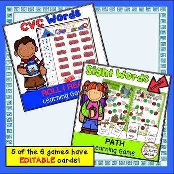 Literacy Learning Games BUNDLE - Camping Theme