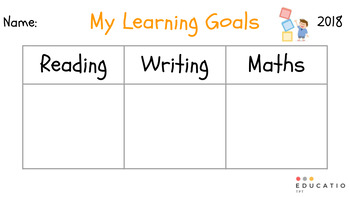Learning Goal Desk Display {Freebie}