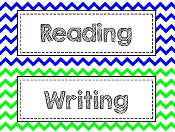 Free Learning Goal Labels - Colorful Chevron or Polka Dot
