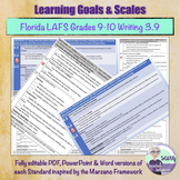 Learning Goal & Learning Scale for Florida LAFS.910.W.3.9