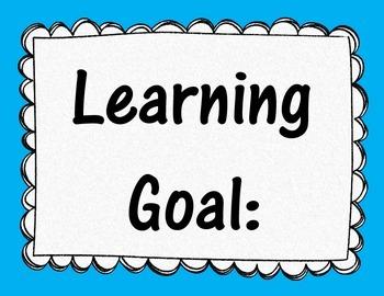 Learning Goal Poster