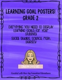 Learning Goal Posters - Ontario Curriculum Grade 2 Bundle!