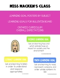 Learning Goal Posters - Ontario Curriculum Grade 2 Math! Editable