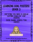 Learning Goal Posters - Ontario Curriculum Grade 3 Bundle!