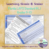 Learning Goal & Scale for Florida Standard LAFS.910.RL.1.1