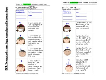 Exit Ticket for ANY Subject Area - K-5