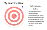 Learning Goal - Self Evaluation Rubric - Large Customizable