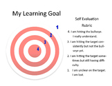 Learning Goal - Self Evaluation Rubric - Small Customizable