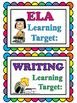 Learning Target Signs for Peanuts Snoopy Theme Classroom