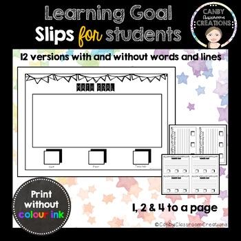 Learning Goal Slips
