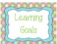 Learning Goal Subject Posters