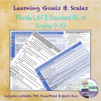 Learning Goal & Learning Scale for Florida LAFS Standard LAFS.910.RL.2.4
