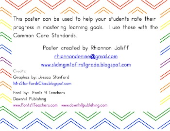 Learning Goal/Common Core Rubric for Students