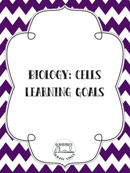 Learning Goals - Biology: Cells -- Posters