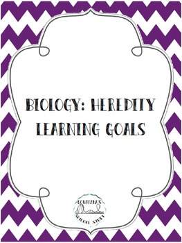 Learning Goals - Biology: Heredity -- Posters