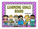 Learning Goals Board- Polka Dot