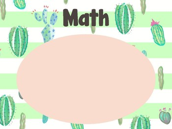 Learning Goals Classroom Posters - Cactus Theme