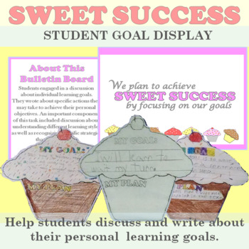 Student Goals: Cupcake Themed Bulletin Board