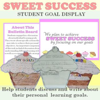 Student Goal Display: Cupcake Themed Bulletin Board